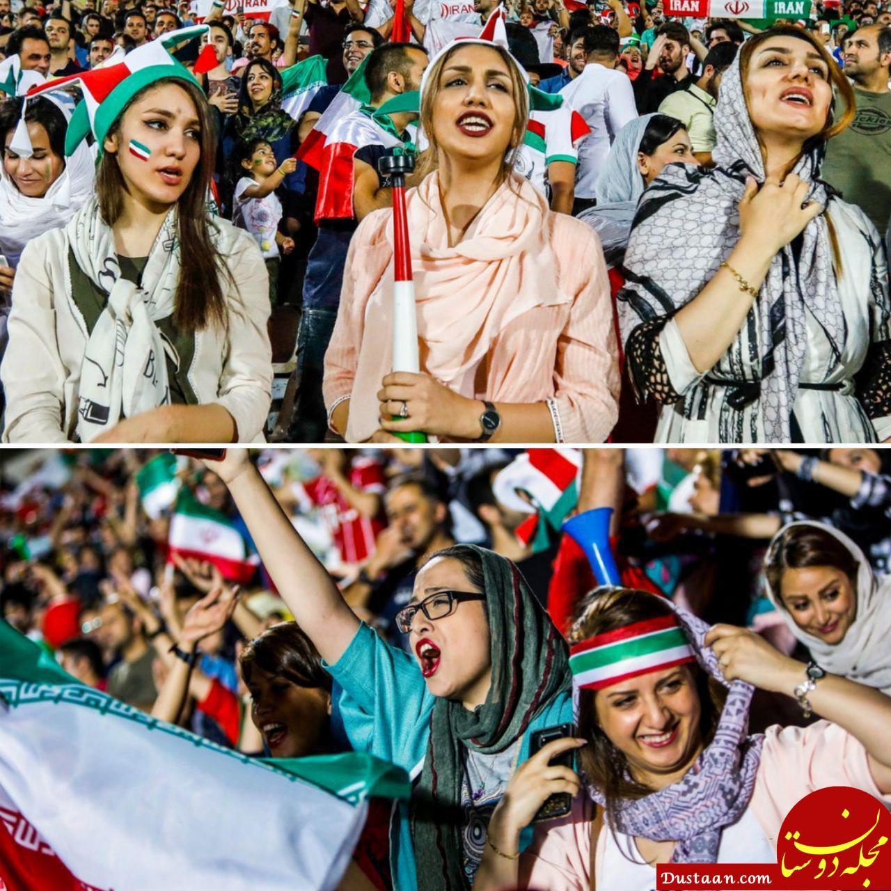 www.dustaan.com عصبانیت احمدی نژادی ها از ورود بانوان به ورزشگاه آزادی