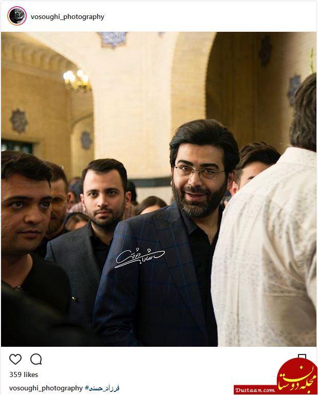 www.dustaan.com عکس: تیپ فرزاد حسنی در مراسم ختم ناصر ملک مطیعی