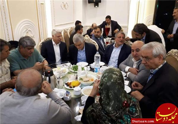 www.dustaan.com حاتم بخشی شورا در ضیافت افطار از جیب چه کسانی؟ +عکس