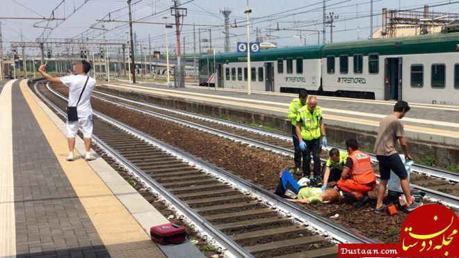 www.dustaan.com سلفی گرفتن مردی جوان با صحنه یک حادثه دلخراش، ایتالیا را شوکه کرد!