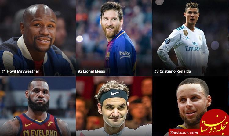 www.dustaan.com پردرآمدترین ورزشکاران جهان در سال 2018