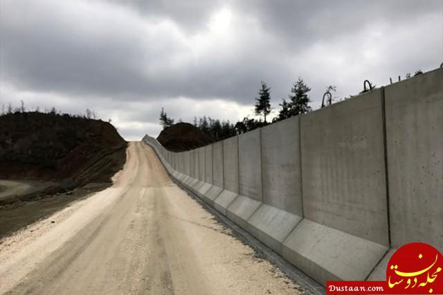 www.dustaan.com ترکیه 43 کیلومتر دیوار امنیتی دیگر در مرز ایران می سازد