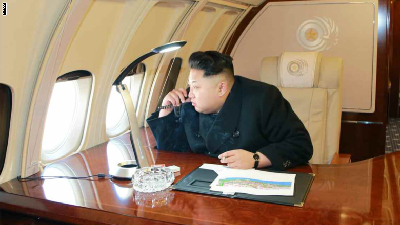 www.dustaan.com هواپیمای اختصاصی رهبر کره شمالی عازم سنگاپور شد