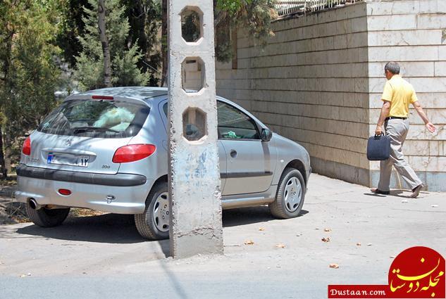 www.dustaan.com برخورد پلیس با حرکت وسایل نقلیه در پیاده روها