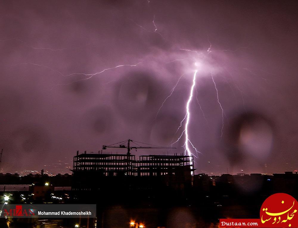 www.dustaan.com عکس های بسیار زیبا از رعد و برق شبانه تهران