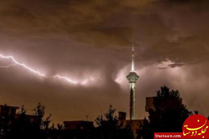 www.dustaan.com هشدار هواشناسی در باره وقوع توفان امشب تهران