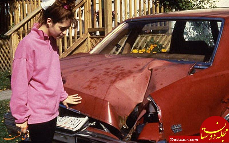 www.dustaan.com شهاب سنگ وحشتناکی که باعث نابودی یک ماشین شد! +عکس