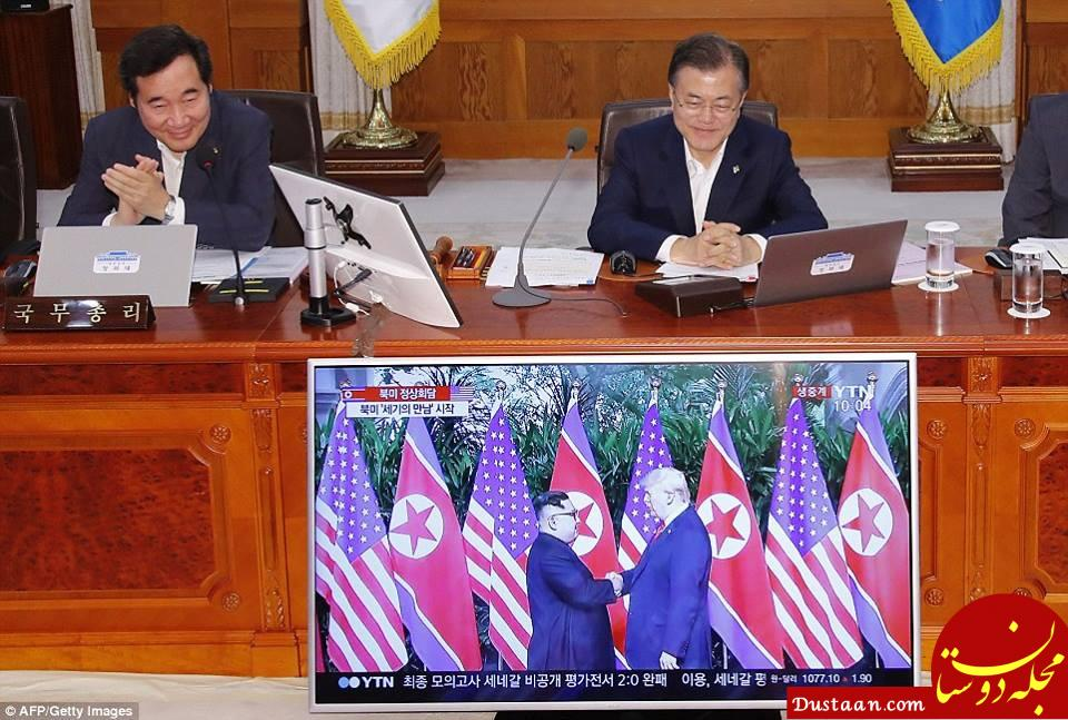 www.dustaan.com حال و روز کرهای ها در روز دیدار ترامپ و اون +تصاویر