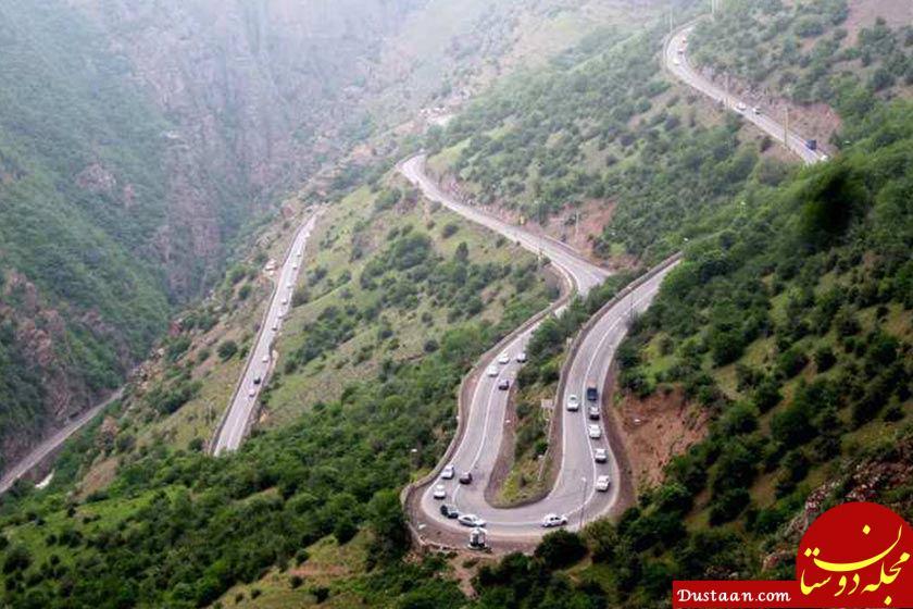 www.dustaan.com تکرار تصادفات عجیب در جاده چالوس