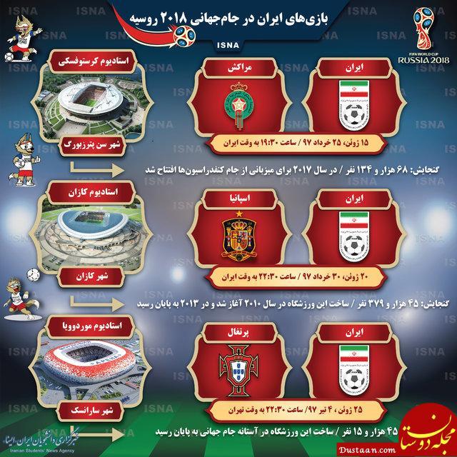 www.dustaan.com بازی های ایران در جام جهانی 2018 روسیه