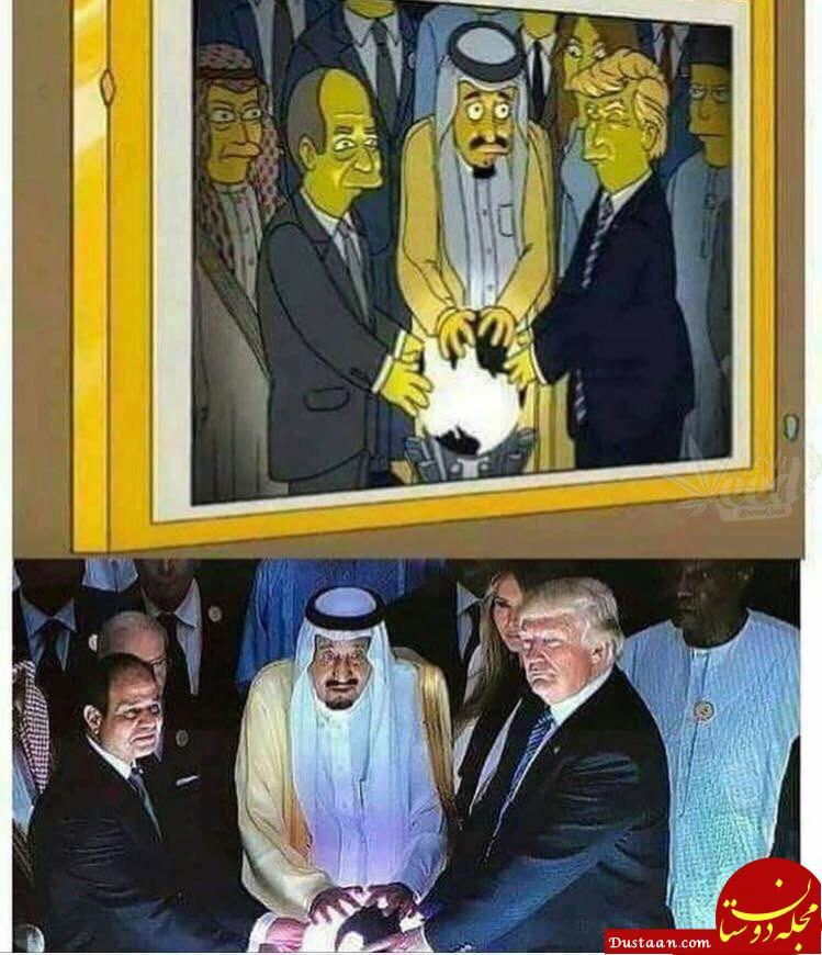 www.dustaan.com اتحاد ترامپ و پادشاه عربستان ۱۵ سال پیش!؟ +عکس