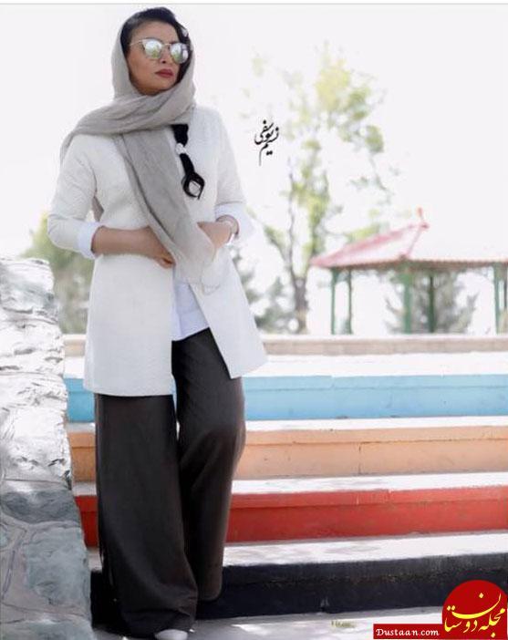 www.dustaan.com شلوار عجیب همسر بازیگر ایرانی سوژه شد! +عکس