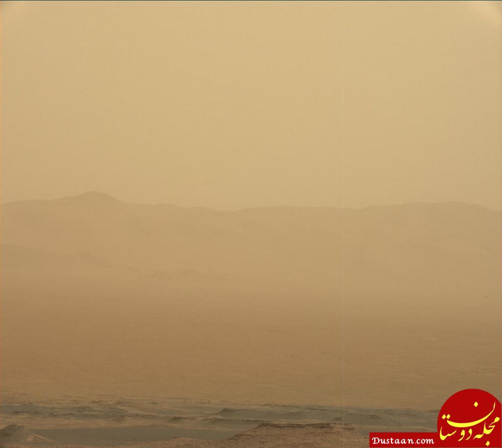 www.dustaan.com طوفان سرخ مریخ در عکس روز ناسا