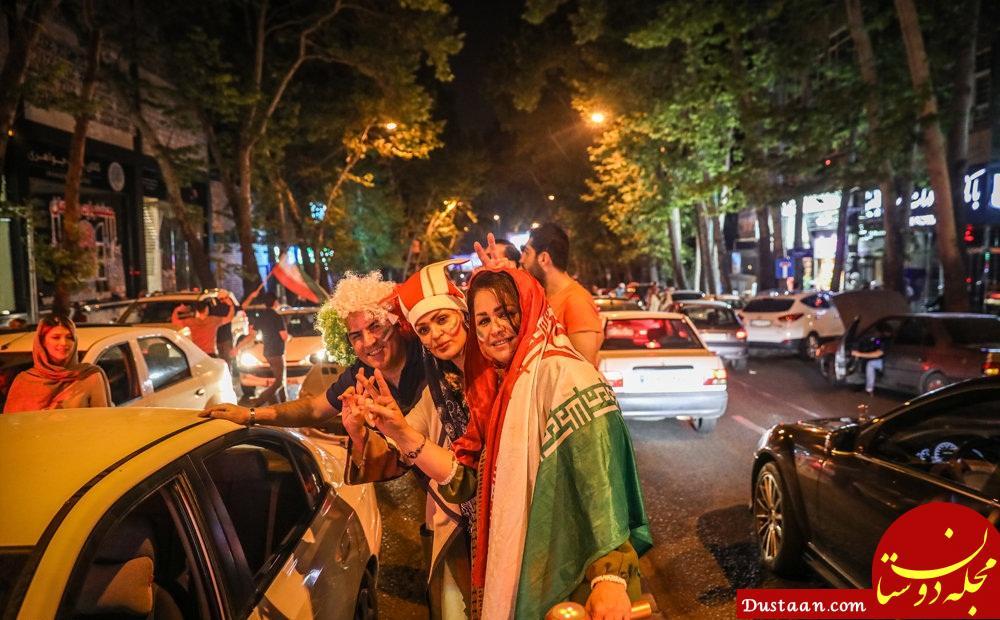 www.dustaan.com عکس های زیبا از شادی مردم پس از پیروزی مقابل مراکش