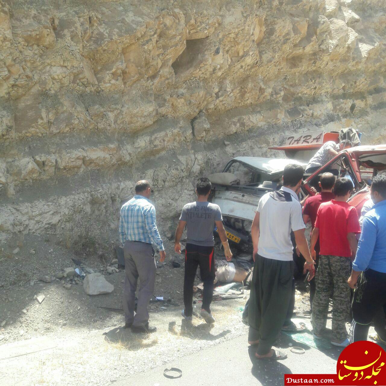 www.dustaan.com تصادف 3 خودرو در پلدختر جان دو نفر را گرفت +عکس