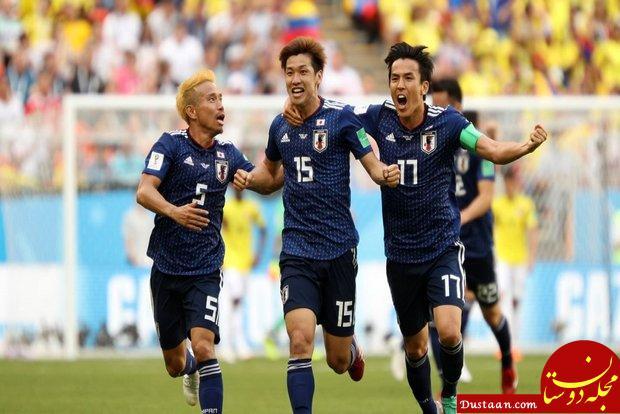 www.dustaan.com پیروزی ژاپن برابر کلمبیای ۱۰ نفره/ ساموراییها هم امتیاز ایران