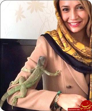www.dustaan.com حیوان های خانگی و عجیب این 3 خانم بازیگر +تصاویر