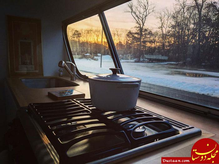 www.dustaan.com زن جوانی که 3 سال از عمر خود را صرف ساختن این اتوبوس کرد! +تصاویر