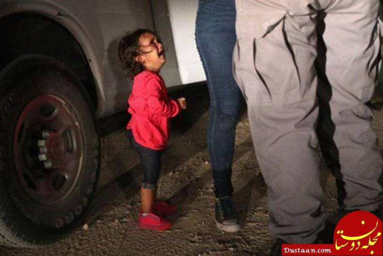 www.dustaan.com انتقال نوزادان و کودکان خانواده های مهاجر به پناهگاه ها +عکس