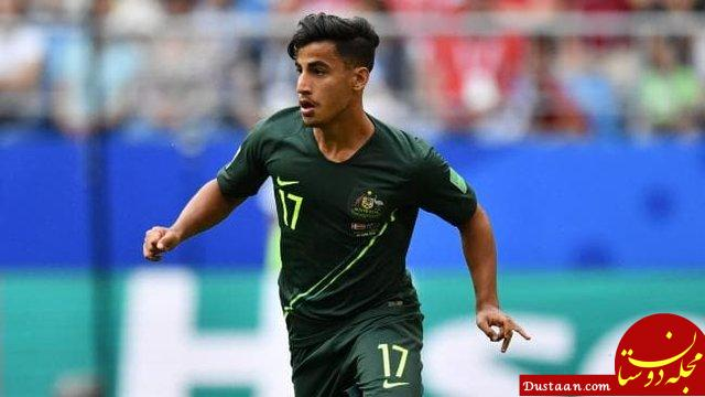 www.dustaan.com ملی پوش استرالیا: فوتبال و دریبل زدن را در خیابان های خرم آباد یاد گرفتم!