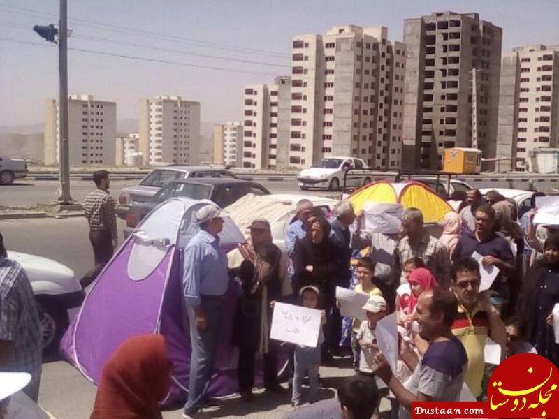 www.dustaan.com متقاضیان مسکن مهر پردیس چادر زدند! +عکس