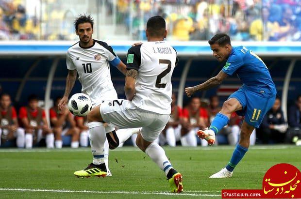 www.dustaan.com برزیل ۲   کاستاریکا صفر/ پیروزی شیرین سلسائو در وقت تلف شده