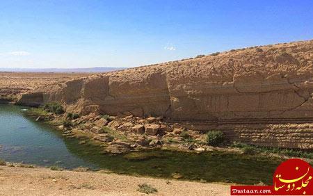 www.dustaan.com تصاویر: دریاچه ای سحرآمیز که یک شبه به وجود آمد!