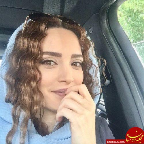 www.dustaan.com سلفی متفاوت بهنوش طباطبایی در اتومبیلش +عکس