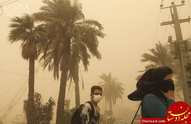 www.dustaan.com حرکت توده خاک عراقی به سمت خوزستان