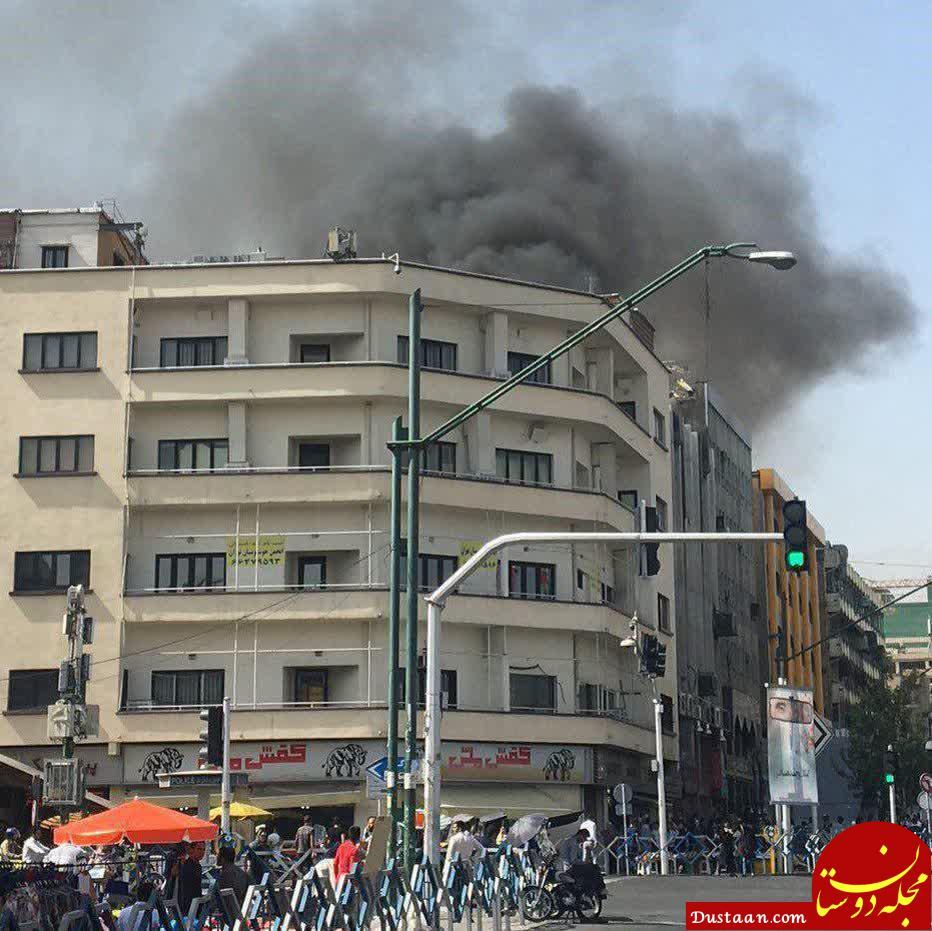 www.dustaan.com آتشسوزی در مجتمع کامپیوتر خیابان ولیعصر تهران +عکس