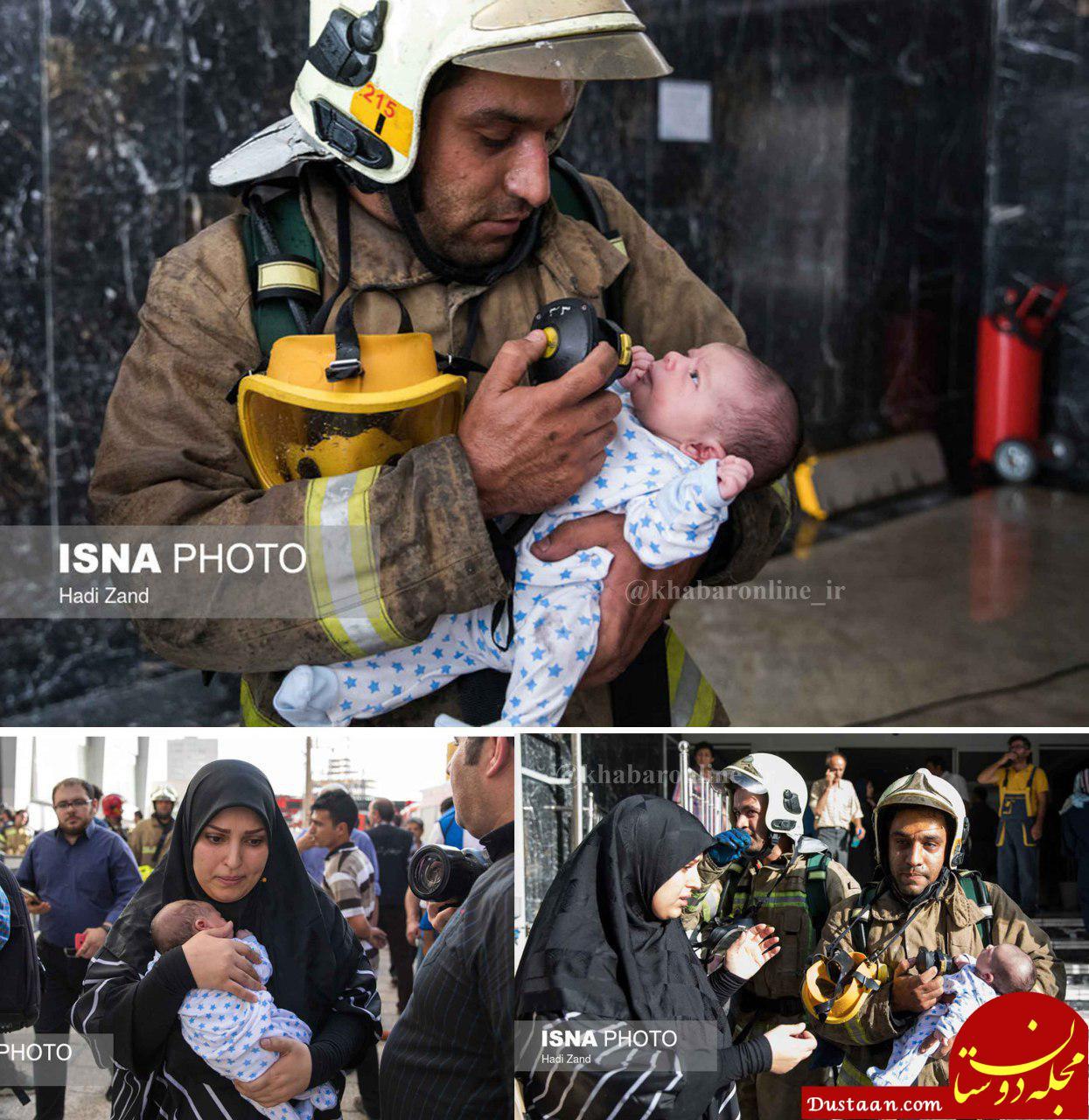 www.dustaan.com تصویری متفاوت از آتش سوزی یک برج در منطقه 22 تهران