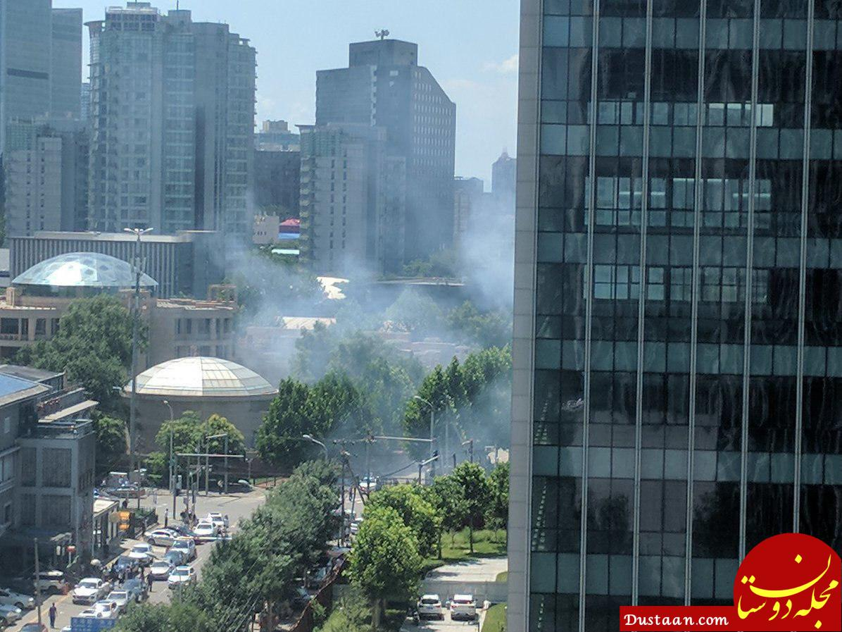 شنیده شدن صدای انفجار در نزدیکی سفارت آمریکا در پکن