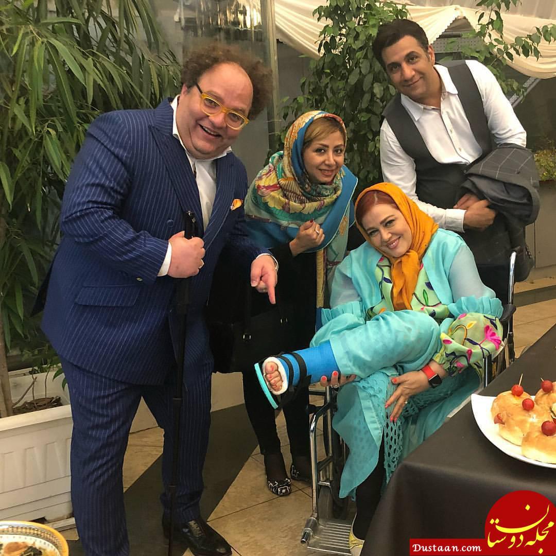 www.dustaan.com بهاره رهنما با پاهای شکسته! +عکس