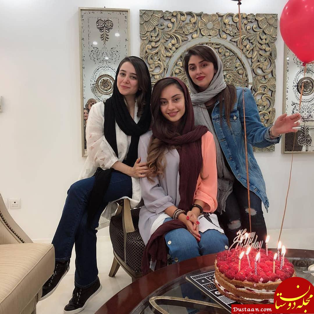 www.dustaan.com عکس دیدنی الناز حبیبی در جشن تولد ۲۰ سالگی ترلان پروانه