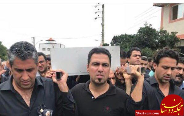 www.dustaan.com فرهاد و فرزاد مجیدی در مراسم تشییع پیکر پدرشان +عکس