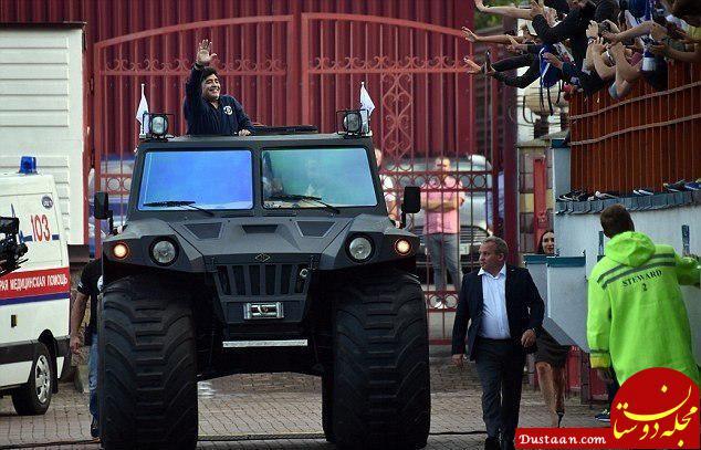 www.dustaan.com یک کار عجیب دیگر از مارادونا +عکس