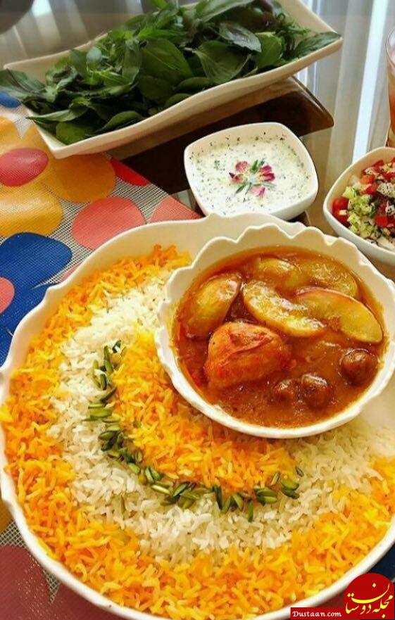 www.dustaan.com طرز تهیه خورش هلو به سبکی خوشمزه و ساده