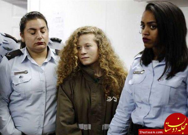 آزادی دختر فلسطینی پس از  ۸ ماه زندان +عکس