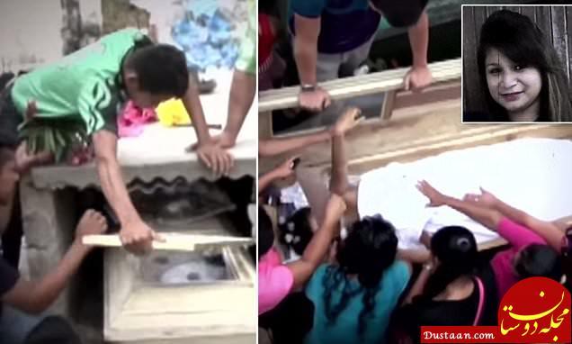 زن جوان پس از مرگش داخل تابوت فرزندش را به دنیا آورد! +تصاویر