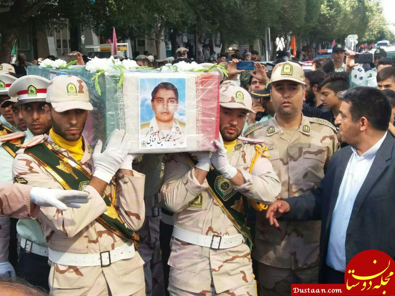 www.dustaan.com مراسم تشییع پیکر مطهر سرباز شهید مرزبانی، «محمدحسین فنایی» +عکس