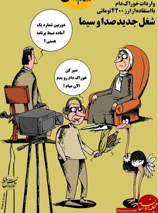 www.dustaan.com پشت پرده مصرف خوراک دام در تلویزیون لو رفت! +عکس