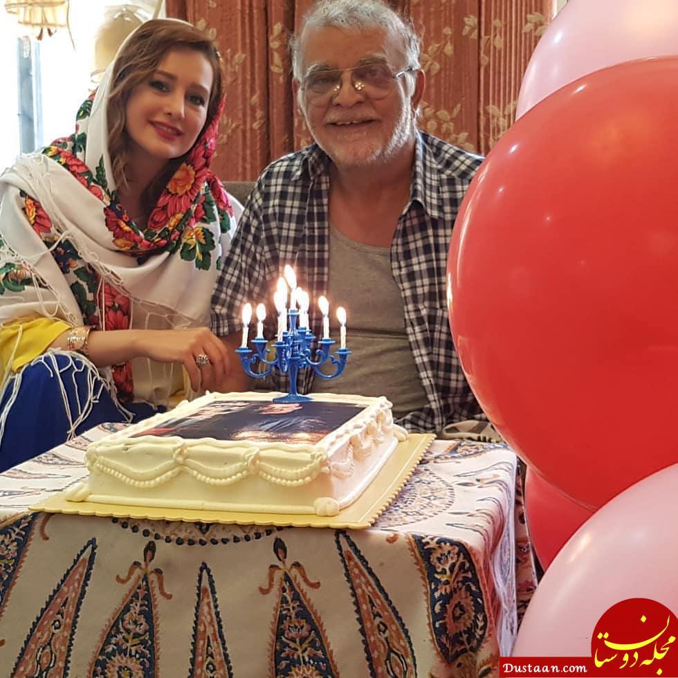 www.dustaan.com جشن تولد ۷۶ سالگی مهدی فخیم زادهدر کنار گلناز خالصی +عکی