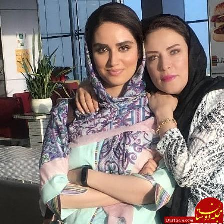 www.dustaan.com مادر و دختر بازیگر /لادن سلیمانی و هانیه غلامی