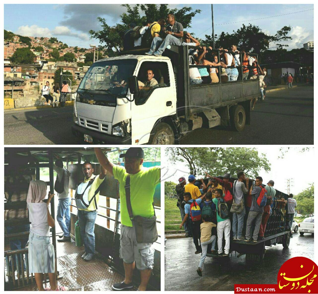 www.dustaan.com استفاده از کامیون باری به جای اتوبوس! +عکس