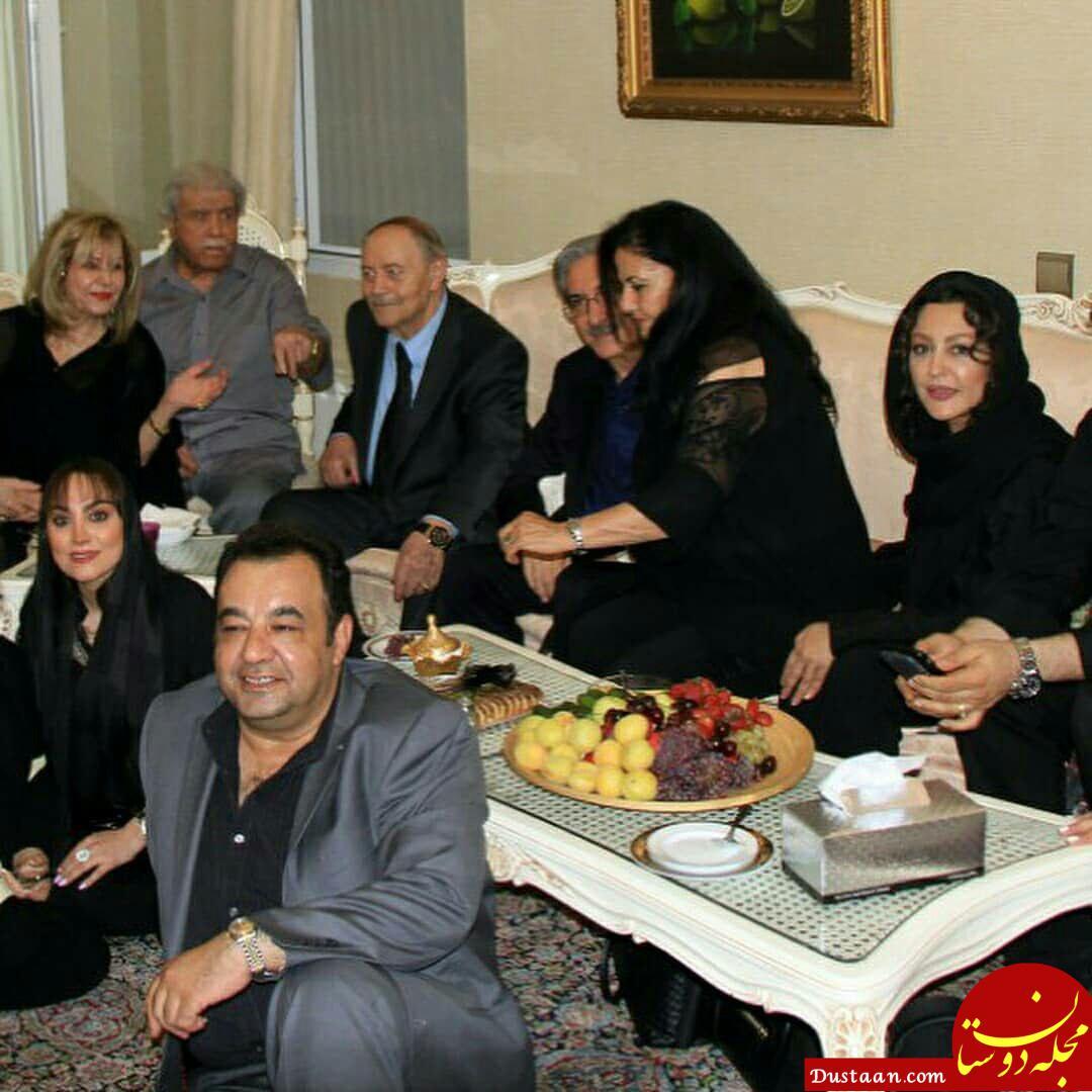 www.dustaan.com عکس های دیدنی بازیگران در مراسم یادبود چهلمین روز درگذشت ناصر ملک مطیعی