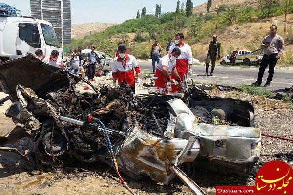 www.dustaan.com تصادف مرگبار پژو ۴۰۵ و تیبا با کامیون 11 کشته و زخمی برجای گذاشت