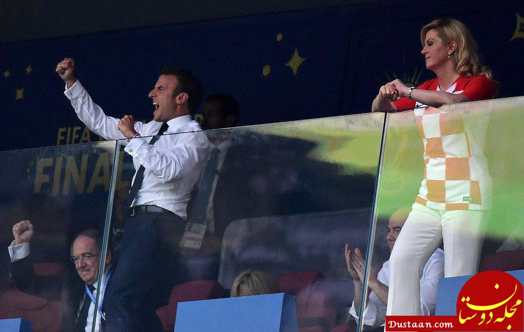 www.dustaan.com وضعیت دو رئیسجمهور بعد از گل چهارم فرانسه در فینال جام جهانی 2018 روسیه!