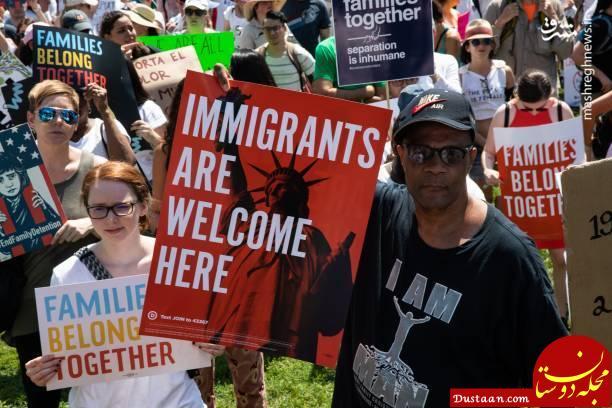 www.dustaan.com ادامه تظاهرات علیه سیاست مهاجرتی ترامپ +تصاویر