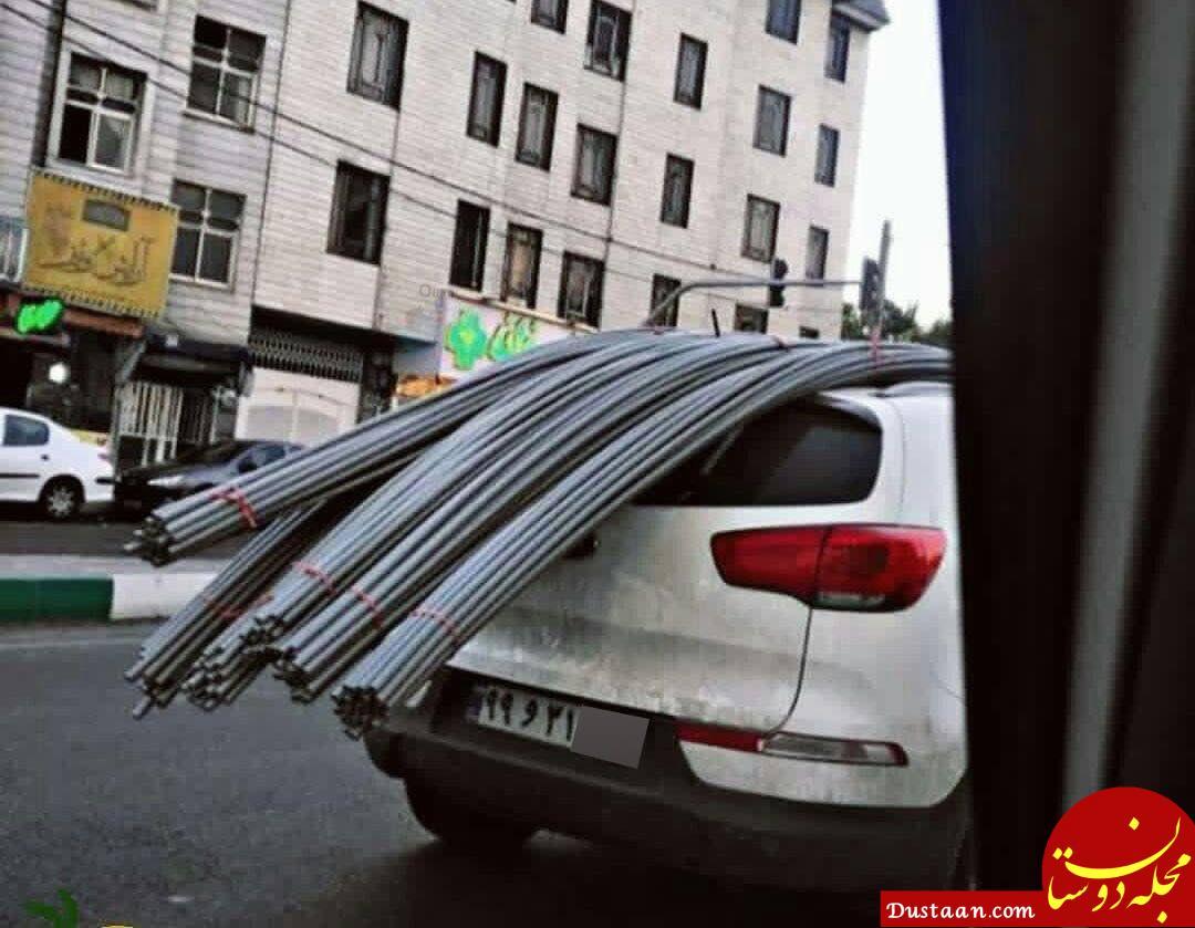 حمل عجیب بار با خودروی 300 میلیون تومانی! +عکس