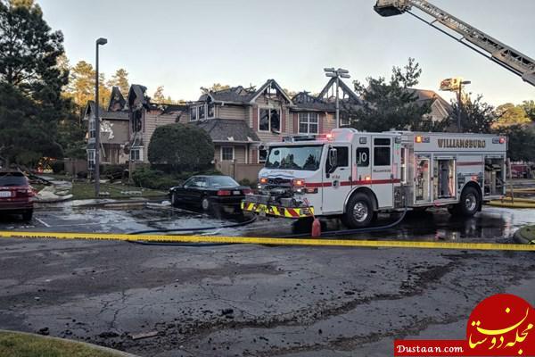 www.dustaan.com اصابت بالگرد به یک ساختمان در «ویلیامسبورگ» آمریکا +تصاویر